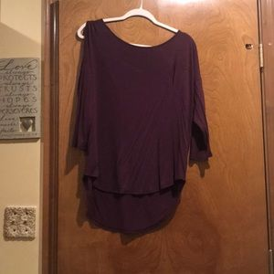 Papermoon knit high low keyhole 3/4 sleeve top